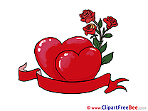 Roses Hearts download Valentine's Day Illustrations