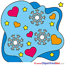 Snowflakes Hearts Valentine's Day free Images download