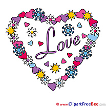 Wreath Flowers Clipart Valentine's Day free Images