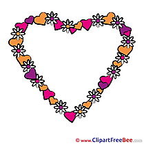 Wreath Flowers Pics Valentine's Day free Cliparts