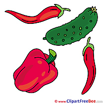 Illustration Pepper Cucumber Clipart free Illustrations