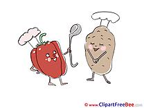 Potato Peppers Cooks Pics free Illustration