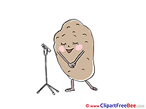 Singing Potato Cliparts printable for free