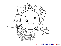 Clothes Sun Weather Clipart free Image download