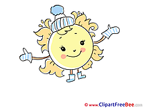 Mittens Sun Cold Clip Art download for free