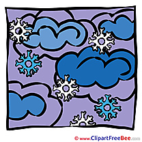 Night Snowflakes Clouds Weahter Pics free download Image