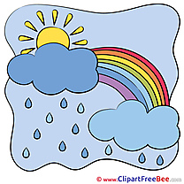 Picture Rainbow Clouds Sun download Clip Art for free