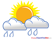 Rain Clouds Sun free Cliparts for download