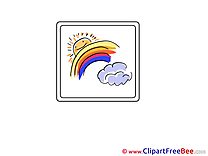 Rainbow Clouds Sun download printable Illustrations