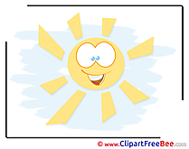 Smiling Sun free printable Cliparts and Images