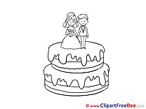 Cake Pics Wedding Illustration