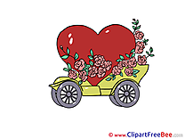 Car Flowers Wedding free Images download