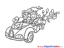 Car Wedding download Illustration