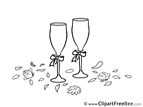 Champagne download Wedding Illustrations