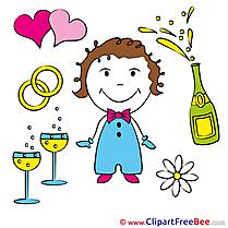 Fiancee Champagne Pics Wedding free Image
