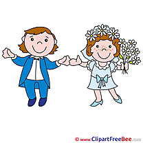 Married Couple free Illustration Wedding
