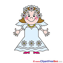 Woman Bride Wedding Clip Art for free
