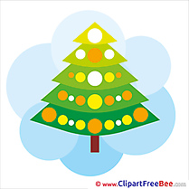 Christmas Tree Pics Winter Illustration