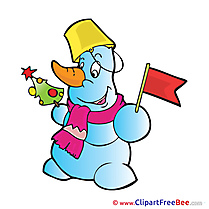 Flag Snowman free Cliparts Winter