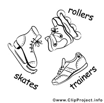 Inliner, Winter Shoes Clip Art gratis