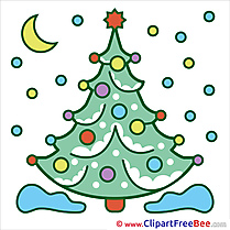 Night Christmas Tree free Illustration Winter