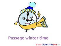 Scarf Clock Winter free Images download