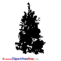 Silhoutte of Christmas Tree Pics Winter free Cliparts