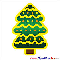 Winter Christmas Tree download Illustration