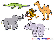 Alligator Monkey Animals free Illustration download