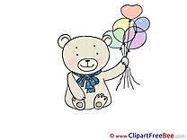 Balloons Bear free Illustration download