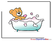 Bathing Bear printable Images for download