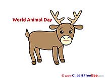 Deer download printable Illustrations