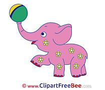 Elephant Pink Pics free Illustration