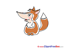 Fox free printable Cliparts and Images