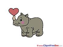 Rhino Clipart free Illustrations