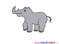 Rhino download printable Illustrations