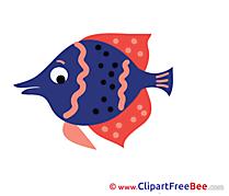 Sea Fish printable Illustrations for free