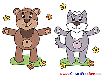 Wolf Bear Pics free Illustration